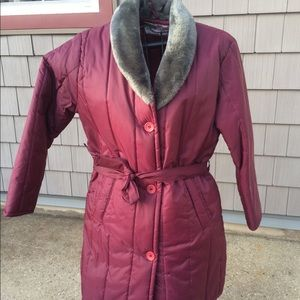 Haband for Her Long Puffer Coat Size 14 NWOT